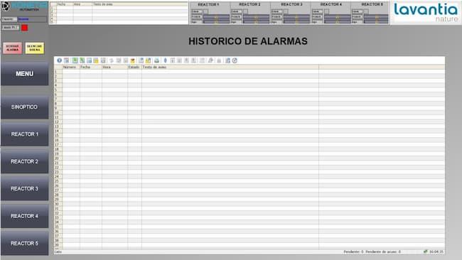 Historico Alarmas SCADA)