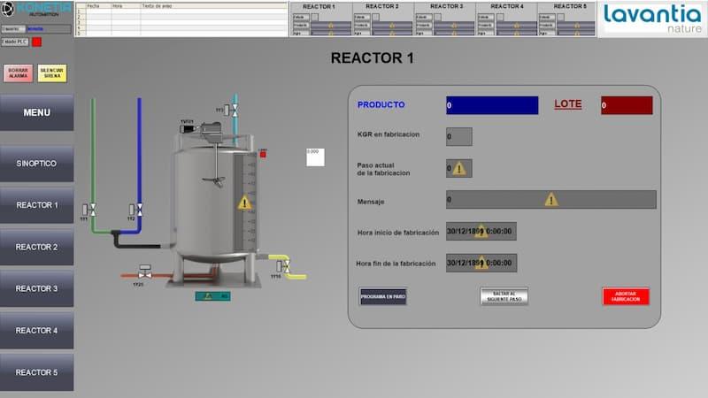 proceso automatizado industria química